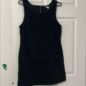 J. Crew black corduroy sleeveless dress
